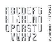 retro font  alphabet  type...   Shutterstock .eps vector #448734613