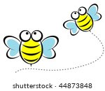 Vector Of Happy Bee