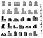 buildings icons vector | Shutterstock .eps vector #448744393
