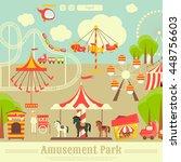 Amusement Park. Summer Holiday...