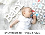 cute sleeping baby boy | Shutterstock . vector #448757323