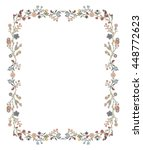 frame of flowers | Shutterstock .eps vector #448772623