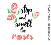 stop and smell the roses  ... | Shutterstock .eps vector #448773913