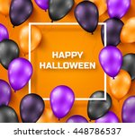 Halloween Background With Blac...