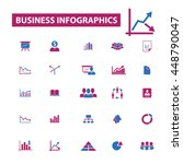 business infographics icons | Shutterstock .eps vector #448790047