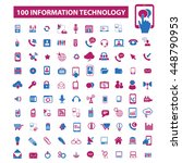 information technology icons | Shutterstock .eps vector #448790953