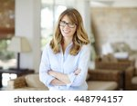 close up portrait of a... | Shutterstock . vector #448794157
