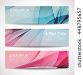 abstract header blue pink wave... | Shutterstock .eps vector #448795657