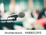 close up of microphone in ... | Shutterstock . vector #448801393