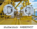 pig reciever at oil and gas... | Shutterstock . vector #448809457