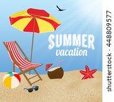 summer vacation poster design ... | Shutterstock .eps vector #448809577