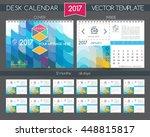 calendar 2017. colored texture... | Shutterstock .eps vector #448815817