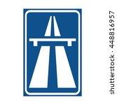 netherlands motorway sign | Shutterstock .eps vector #448816957