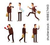 set of businessman characters... | Shutterstock .eps vector #448817443
