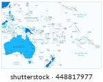 australia and oceania detailed... | Shutterstock .eps vector #448817977