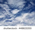 blue sky with white clouds | Shutterstock . vector #448823203