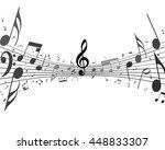 black and white musical design... | Shutterstock .eps vector #448833307