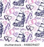 hand drawn seamless wedding... | Shutterstock .eps vector #448839607