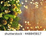 christmas holiday lights... | Shutterstock . vector #448845817