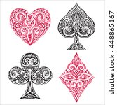 vector set of hand drawn suit... | Shutterstock .eps vector #448865167