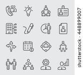 human resource management line... | Shutterstock .eps vector #448899007