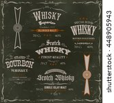 whisky labels and seals on...   Shutterstock .eps vector #448905943