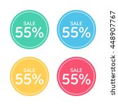 price badge icon. discount  55  ... | Shutterstock .eps vector #448907767