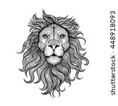 vector black and white tattoo... | Shutterstock .eps vector #448918093