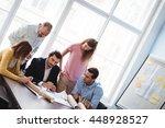 tilt image of business people... | Shutterstock . vector #448928527
