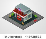 isometric cinema  theater... | Shutterstock .eps vector #448928533