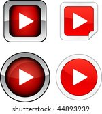 play   web buttons. vector... | Shutterstock .eps vector #44893939