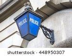 police station sign  england  uk | Shutterstock . vector #448950307