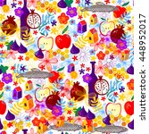 seamless holiday pattern with... | Shutterstock .eps vector #448952017