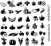 set of fruits and vegetables...   Shutterstock . vector #448965817
