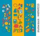 vector doodle set of education... | Shutterstock .eps vector #448969213