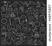 vector doodle set of education... | Shutterstock .eps vector #448970857