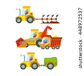 icon set of agricultural... | Shutterstock .eps vector #448972537