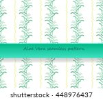 seamless pattern of the aloe... | Shutterstock .eps vector #448976437
