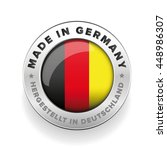 made in germany button vector | Shutterstock .eps vector #448986307