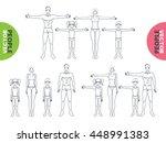 anatomy full length people... | Shutterstock .eps vector #448991383