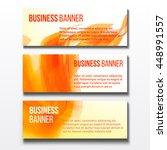 set of three horizontal... | Shutterstock .eps vector #448991557