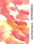 hand painted watercolor... | Shutterstock . vector #449000803