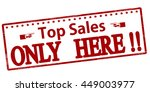 rubber stamp with text top... | Shutterstock .eps vector #449003977