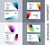 vector business card template... | Shutterstock .eps vector #449008957