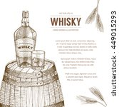 vector whisky production... | Shutterstock .eps vector #449015293