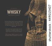 vector whisky production... | Shutterstock .eps vector #449015407