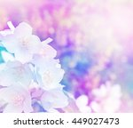 spring landscape with delicate... | Shutterstock . vector #449027473