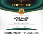 certificate to be elegant and... | Shutterstock .eps vector #449033023