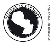 welcome to paraguay vector logo ...   Shutterstock .eps vector #449037577