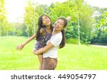 outdoor portrait of asian... | Shutterstock . vector #449054797